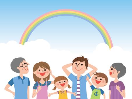 3世代家族-虹