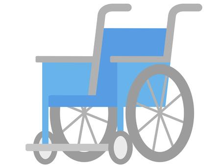60206. Wheelchair, blue