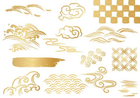 Vật liệu hoa văn Nhật Bản 034 bộ phận sóng