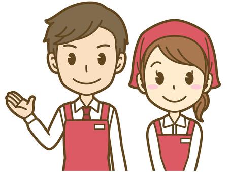 Men and women (sales clerk): B_ guidance 03BS