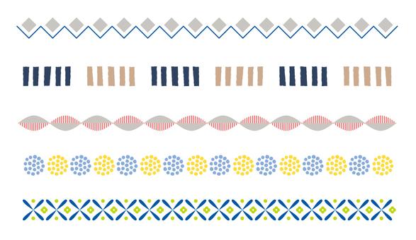 Scandinavian pattern line 01