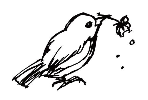 Bird 01 Black and white