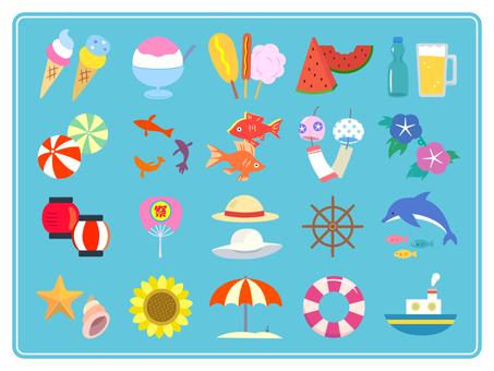 在夏天简单的插图
