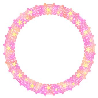 Round frame Pink