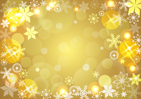 Winter background gold ☆ side