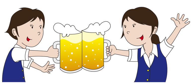 Cheers with beer _ Clerk 2