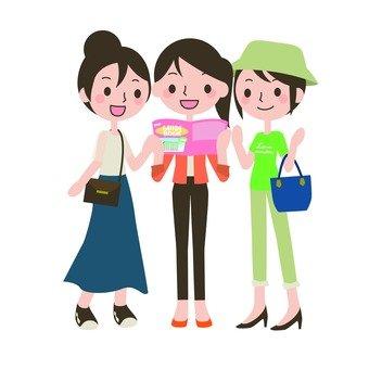 Female trio brigade