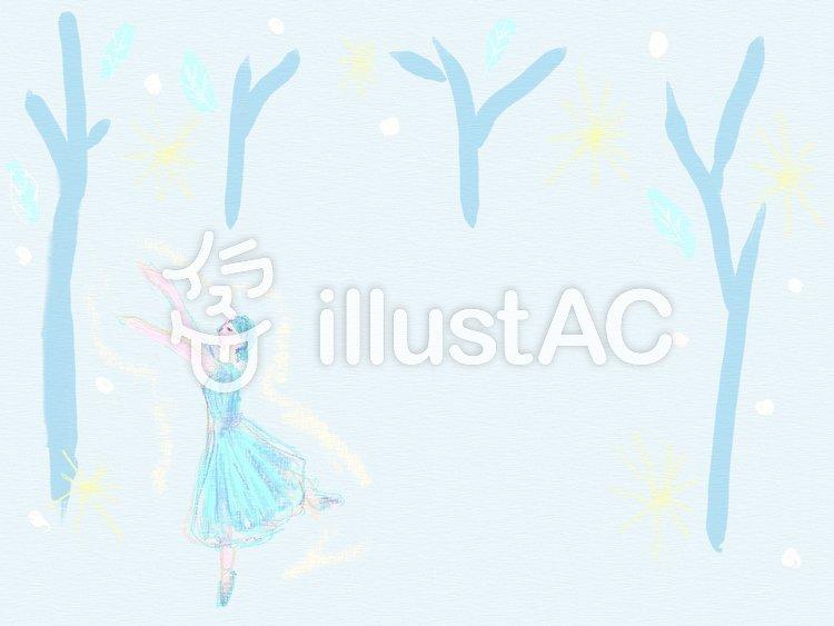 バレエのフレーム ジゼルのイラスト