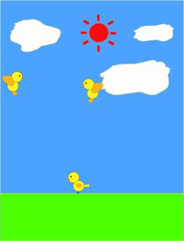 푸른 하늘과 작은 새