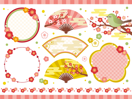 Plum blossoms Frame set