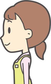 ホームヘルパー女性-366-バスト