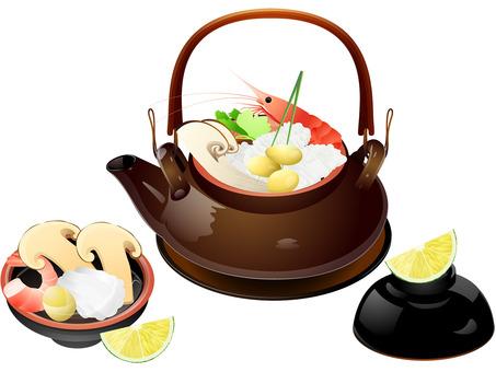 Autumn taste · Matsutake mushrooms Steaming