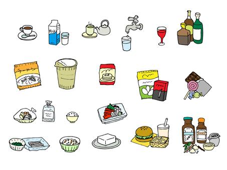 飲料と食品(カラー詰め合わせセット)