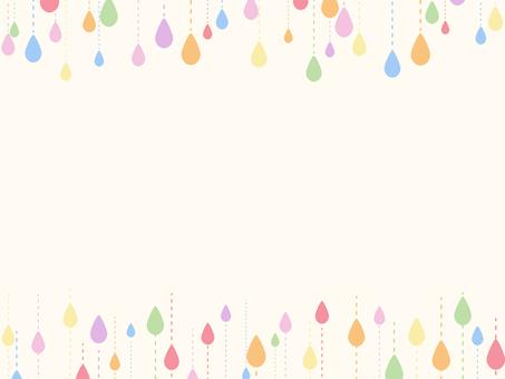 雨粒のフレーム1