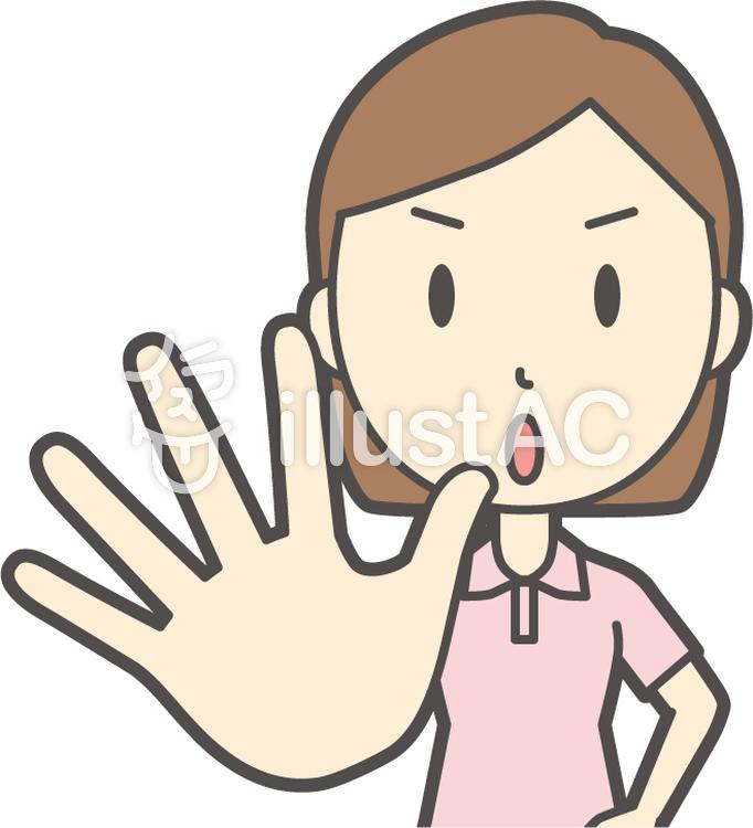半袖ポロシャツ女性-072-バストのイラスト