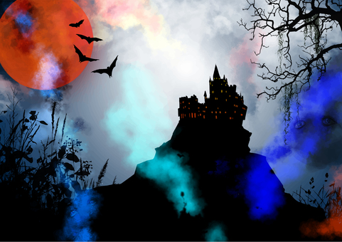 Castle and ghost