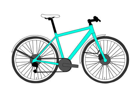 Cross bike blue
