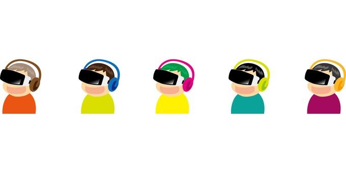 VR Experience a boy _ each color