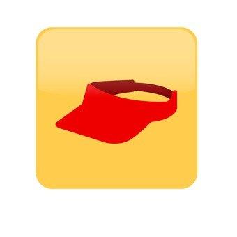 Sun visor _ red
