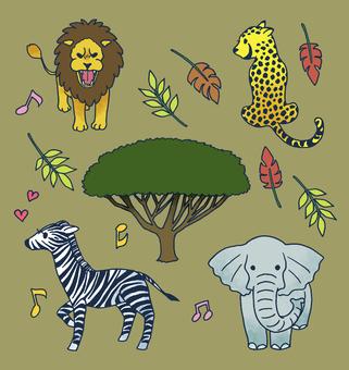 Animals of savanna