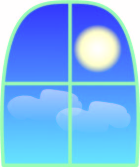 Weather window Ms. Moon