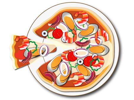 Pescatorle pizza