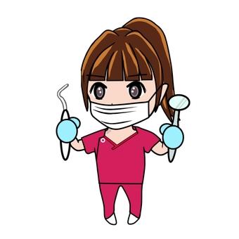 治療する女医