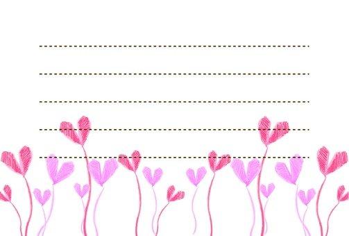 Heart pattern note