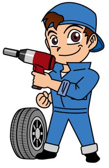 Tire changing men 03