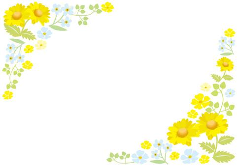 黃色的花框架1