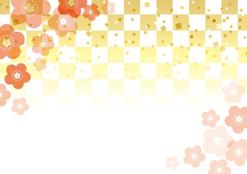 梅の花_和風背景05