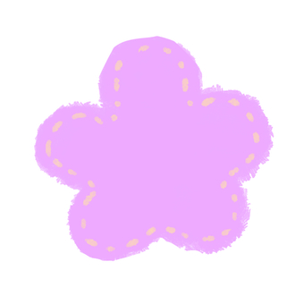 Flower purple mesh