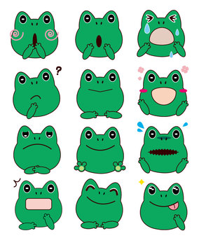 Frog - Facial expression set