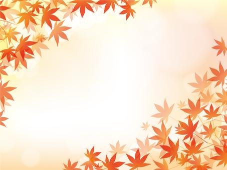 Autumn frame autumn leaves