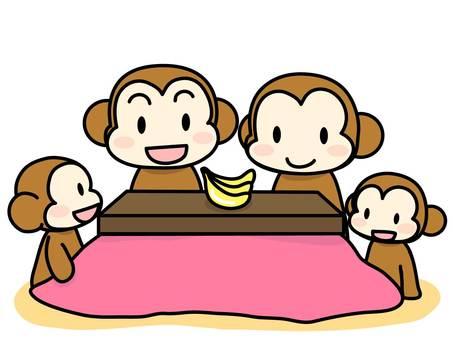 Monkey family 4 people family