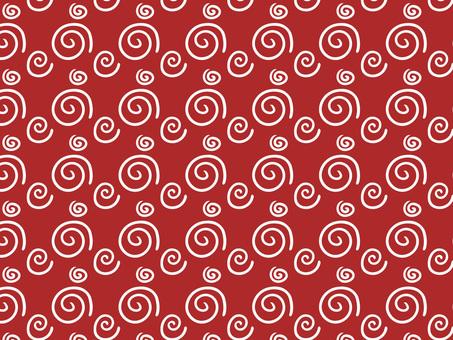 Chiyogami arabesque (red)
