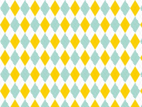 Argyle ● Yellow × striped green