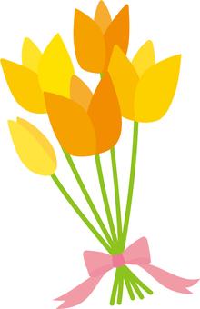 노란색 꽃다발