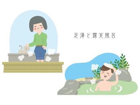 Footbath / open-air bath