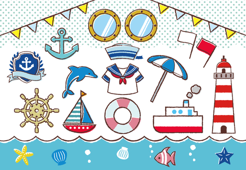 Marine / sea / summer material