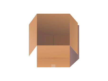 Cardboard empty box simple material illustration