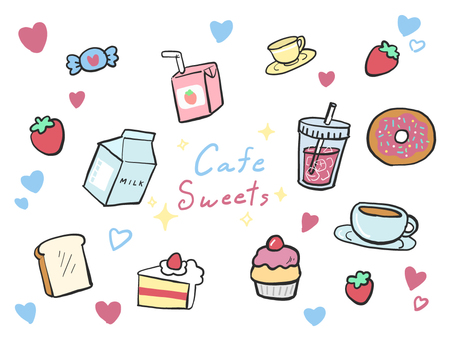 Cafe hand drawn illustration