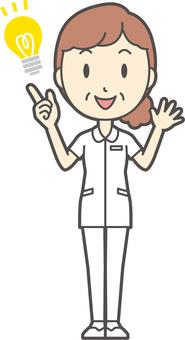 中年女護士白大衣-277-全身