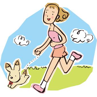 달리기하는 여성
