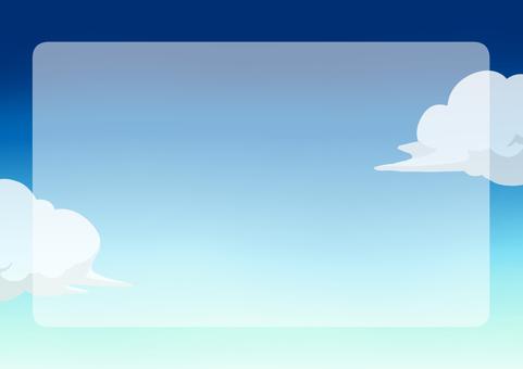 하늘 낮의 푸른 하늘