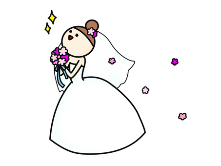 Wedding dress landscape