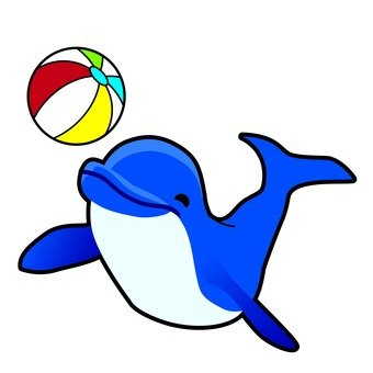 Dolphin and ball