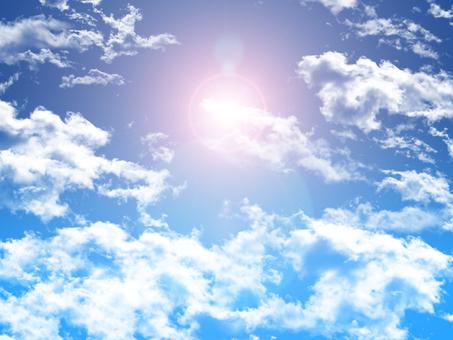 Backlight in blue sky