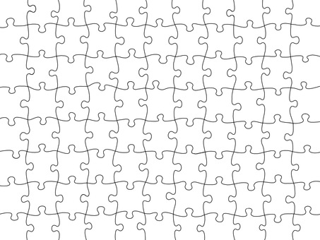 Jigsaw puzzle piece background material