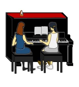 피아노를지도 중 2